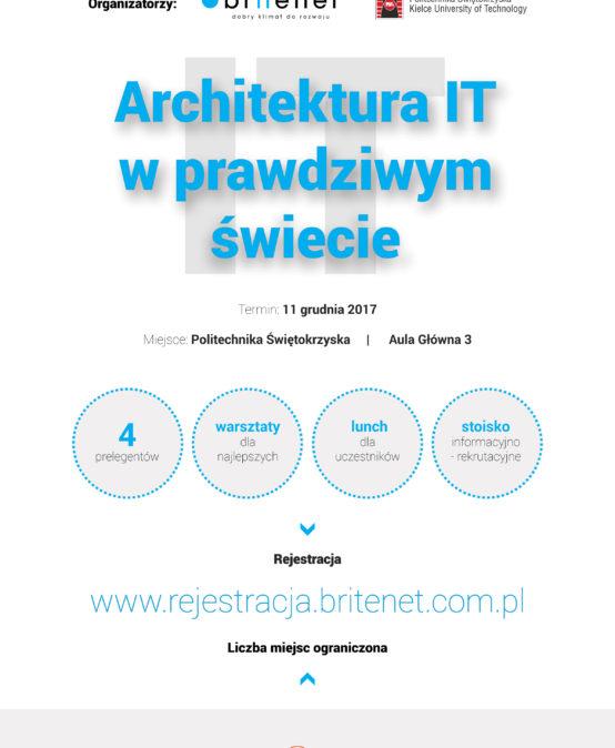 Architektura IT w prawdziwym świecie – zaproszenie na 11 XII